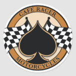 Cafe Racer Motorcycles Round Stickers