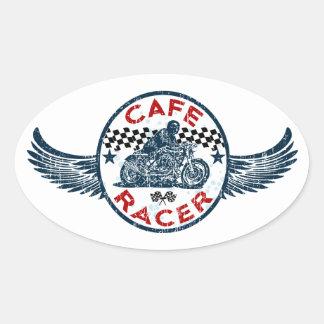 Cafe racer oval sticker