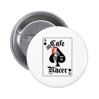 Cafe Racer Ton Up Redhead 6 Cm Round Badge