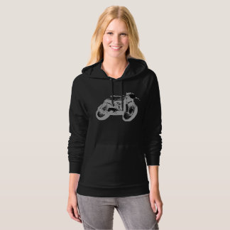 Cafe Racer Vintage Motorcycle Inverted, Hoodie