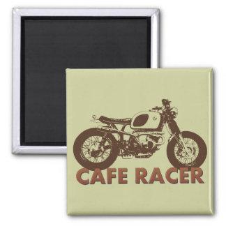 Cafe Racer Vintage Square Magnet