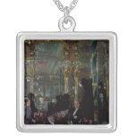 Cafe Royal, London, 1912 Square Pendant Necklace