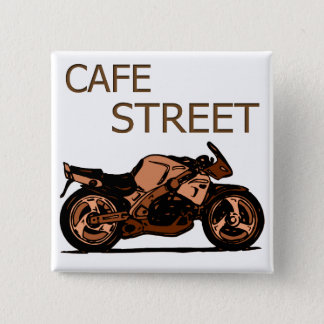 Cafe Street 15 Cm Square Badge
