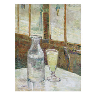 Café table with absinth Postcard