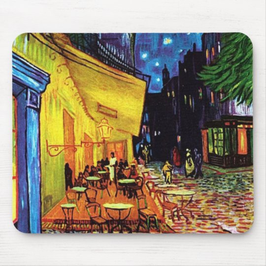 Cafe Terrace at Night (1888) Custom Mouse pads
