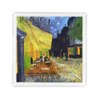 Café Terrace at Night by Van Gogh Fine Art Acrylic Tray
