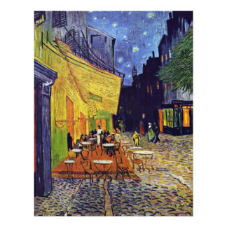 Cafe Terrace At Night,  By Vincent Van Gogh 21.5 Cm X 28 Cm Flyer