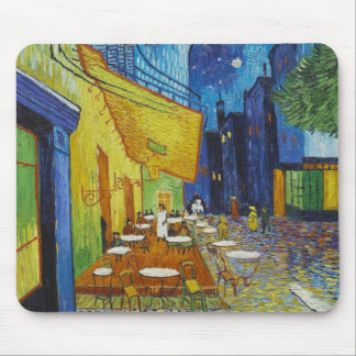 Cafe Terrace At Night by Vincent Van Gogh Mouse Mat