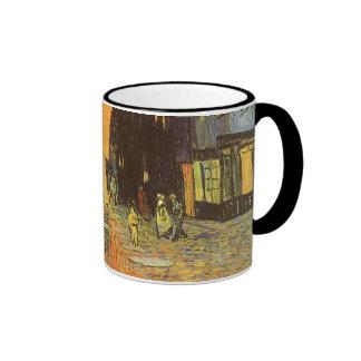 Cafe Terrace at Night by Vincent van Gogh Ringer Mug
