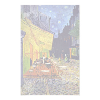 Cafe Terrace At Night,  By Vincent Van Gogh Stationery