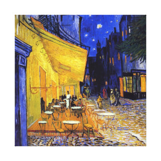Cafe Terrace at Night by Vincent van Gogh Stretched Canvas Print