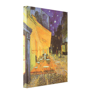 Cafe Terrace at Night by Vincent van Gogh Stretched Canvas Prints