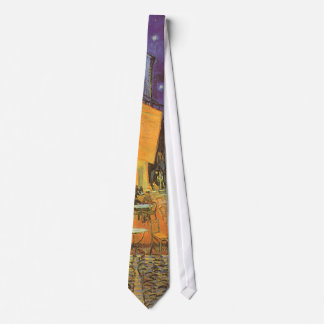 Cafe Terrace at Night by Vincent van Gogh Tie