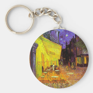 Café Terrace at Night ~ Vincent van Gogh Basic Round Button Key Ring