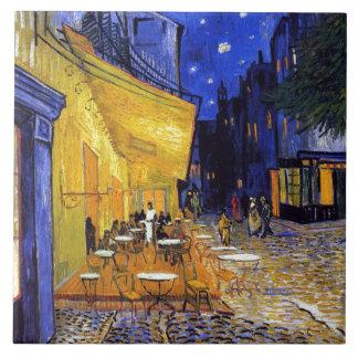 Cafe Terrace by Vincent van Gogh Large Square Tile