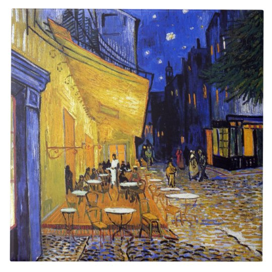 Cafe Terrace by Vincent van Gogh Tile