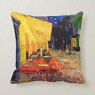 Cafe Terrace (F467) Van Gogh Fine Art Throw Pillow