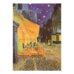 Cafe Terrace Night, van Gogh Vintage Impressionism Announcements