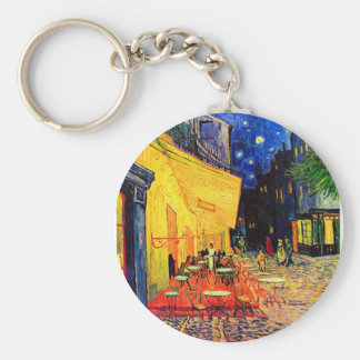 Cafe Terrace Place du Forum Van Gogh Fine Art Basic Round Button Key Ring