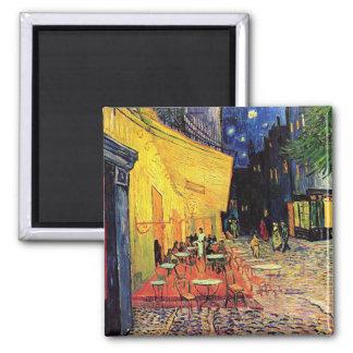 Cafe Terrace Place du Forum Van Gogh Fine Art Square Magnet