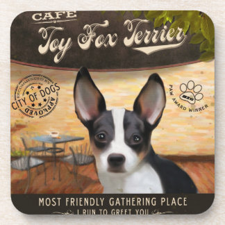 Cafe Toy Fox Terrier Drink Coaster