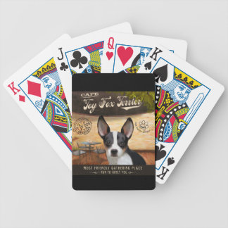 Cafe Toy Fox Terrier Bicycle Card Decks