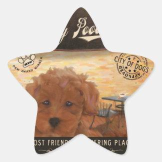 Cafe Toy Poodle Sticker
