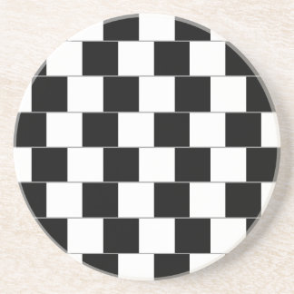 Cafe Wall Optical Illusion Horizontal Lines Coaster