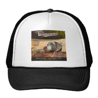 Cafe Weimaraner Trucker Hats