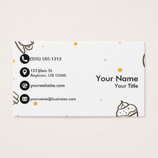 Cafe with Coffee and Cupcakes Business Card