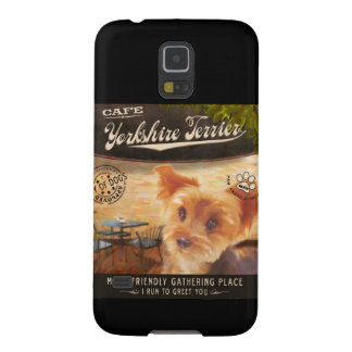 Cafe Yorkshire Terrier Galaxy S5 Case