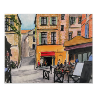 Cafes Provence France- Poster