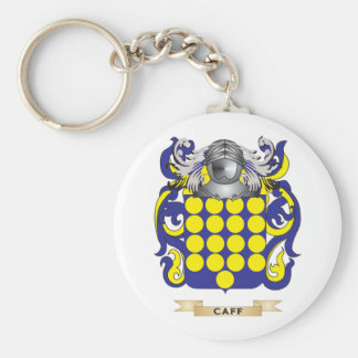 Caff Coat of Arms (Family Crest) Basic Round Button Key Ring