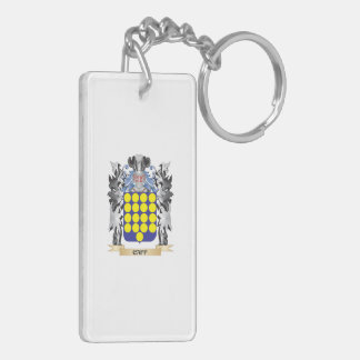 Caff Coat of Arms - Family Crest Double-Sided Rectangular Acrylic Key Ring