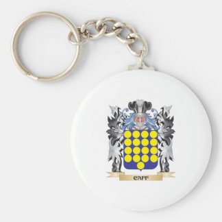Caff Coat of Arms - Family Crest Basic Round Button Key Ring