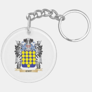 Caff Coat of Arms - Family Crest Double-Sided Round Acrylic Key Ring