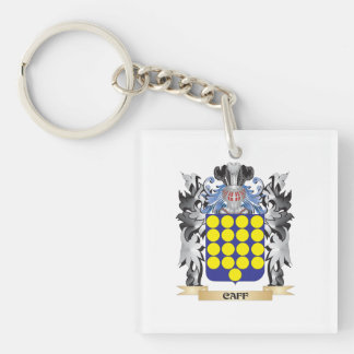 Caff Coat of Arms - Family Crest Single-Sided Square Acrylic Key Ring