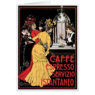 Caffe Espresso Vintage Coffee Drink Ad Art Card