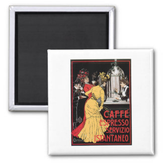 Caffe Espresso Vintage Coffee Drink Ad Art Square Magnet
