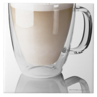 Caffe latte, on white background, cut out tile