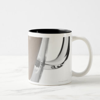 Caffe latte, on white background, cut out Two-Tone coffee mug