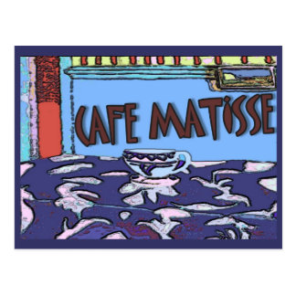 Caffee Matisse Sign Postcard