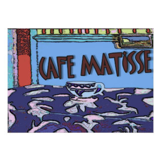 Caffee Matisse Sign Poster
