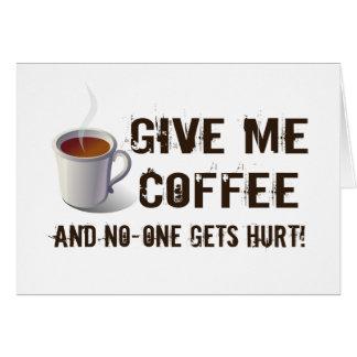 Caffein Deprivation Card