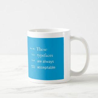 Caffeinated Typography Basic White Mug