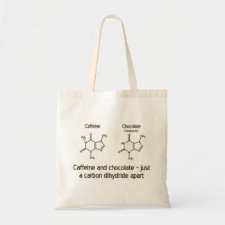 Caffeine and chocolate budget tote bag