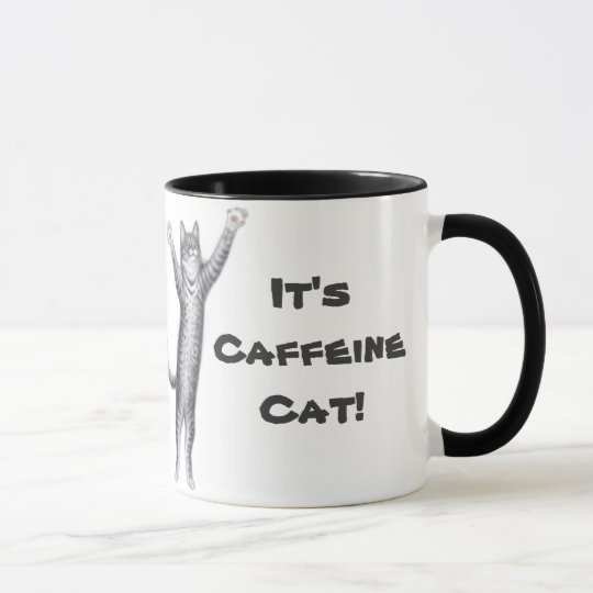 Caffeine Cat Coffee Mug