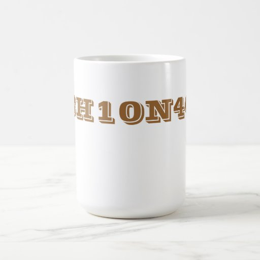 Caffeine chemical formula. coffee mugs