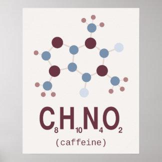 Caffeine Chemical Formula Poster