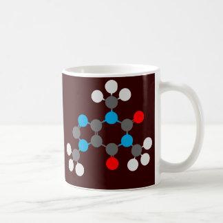 Caffeine cup basic white mug